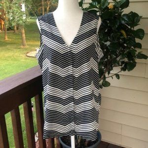 Banana Republic Factory Black/White Open Back Top